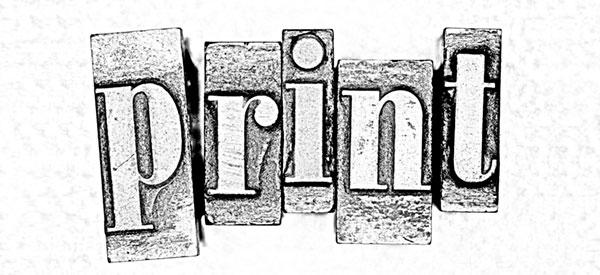 Tryckorit Tjänster produktionsledning – illustration print – originalproduktion